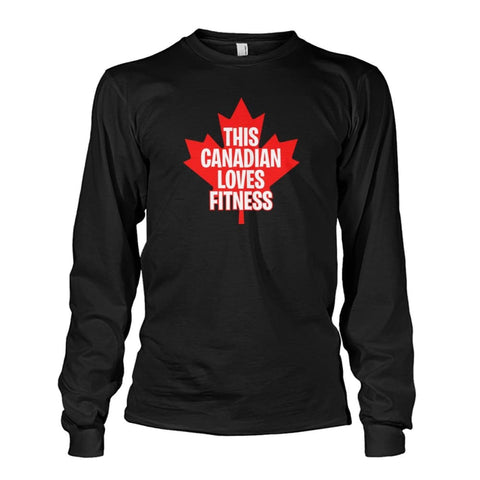This Canadian Loves Fitness Long Sleeve - Dark Heather / S / Unisex Long Sleeve - Long Sleeves