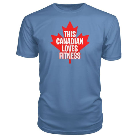 This Canadian Loves Fitness Premium Tee - Lake / S / Premium Unisex Tee - Short Sleeves
