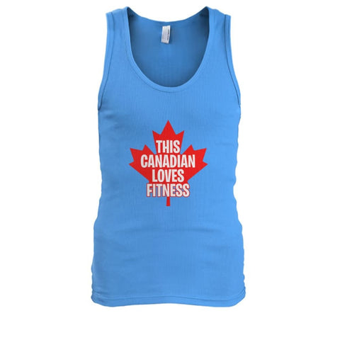 Image of This Canadian Loves Fitness Tank - Carolina Blue / S / Mens Tank Top - Tank Tops
