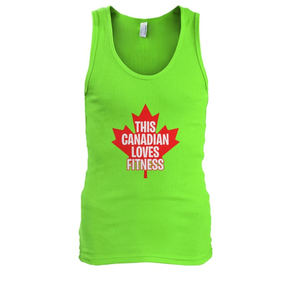 This Canadian Loves Fitness Tank - Lime / S / Mens Tank Top - Tank Tops
