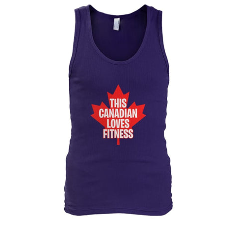 Image of This Canadian Loves Fitness Tank - Purple / S / Mens Tank Top - Tank Tops