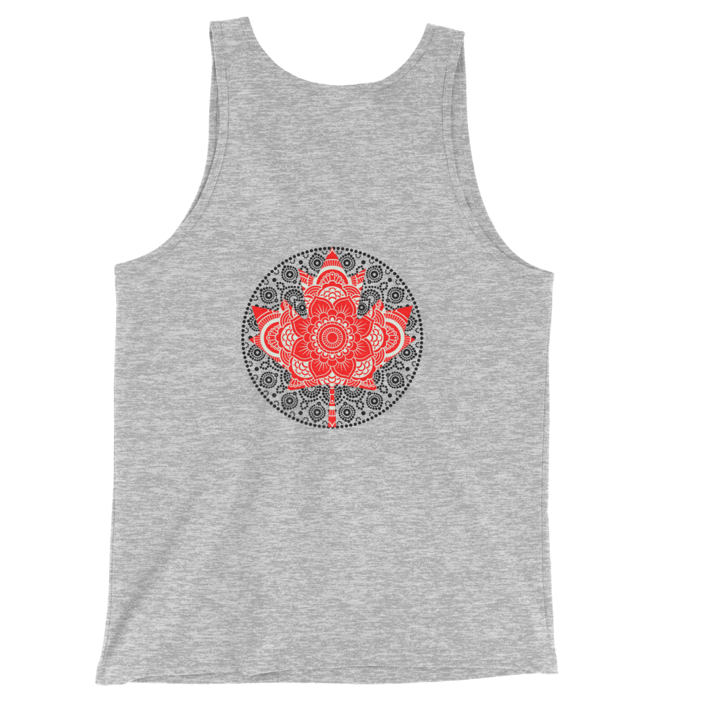Maple Leaf Mandala Back Design