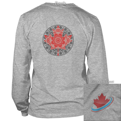 Image of Maple Leaf Mandala Back Design