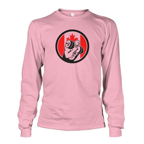Weight Lifting Long Sleeve - Light Pink / S / Unisex Long Sleeve - Long Sleeves