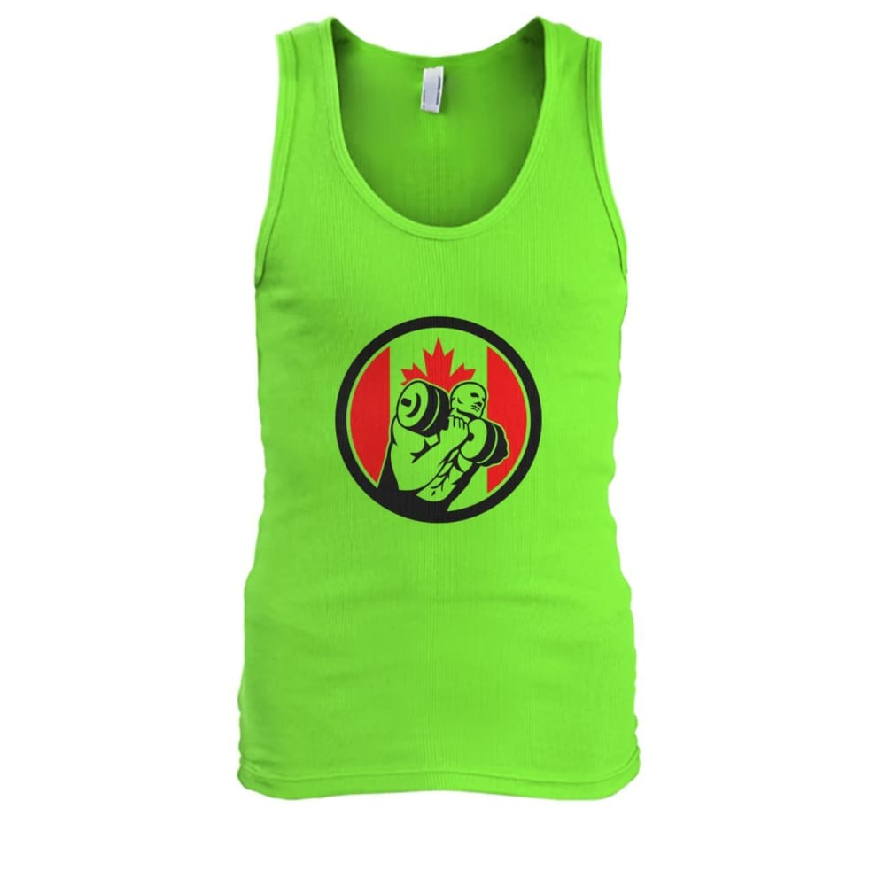 Weight Lifting Tank - Lime / S / Mens Tank Top - Tank Tops