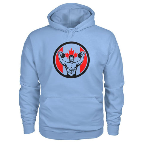 Image of Work Out Hoodie - Light Blue / S / Gildan Hoodie - Hoodies