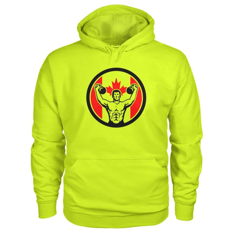 Image of Work Out Hoodie - Safety Green / S / Gildan Hoodie - Hoodies