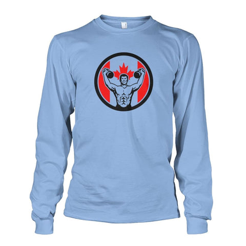 Work Out Long Sleeve - Light Blue / S / Unisex Long Sleeve - Long Sleeves