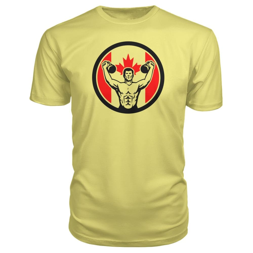 Work Out Premium Tee - Spring Yellow / S / Premium Unisex Tee - Short Sleeves
