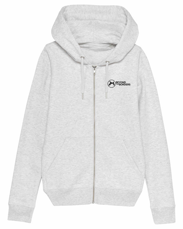Sweat capuche Zippé Beyond The Borders Femme