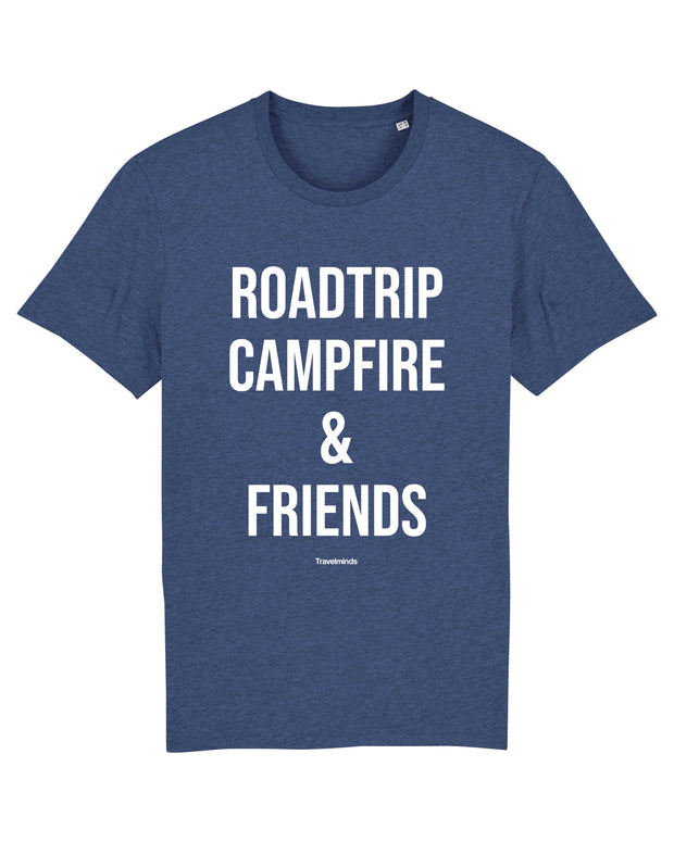 T-shirt Roadtrip campfire & friends Homme