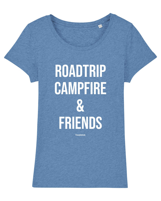 T-shirt Roadtrip campfire & friends Femme