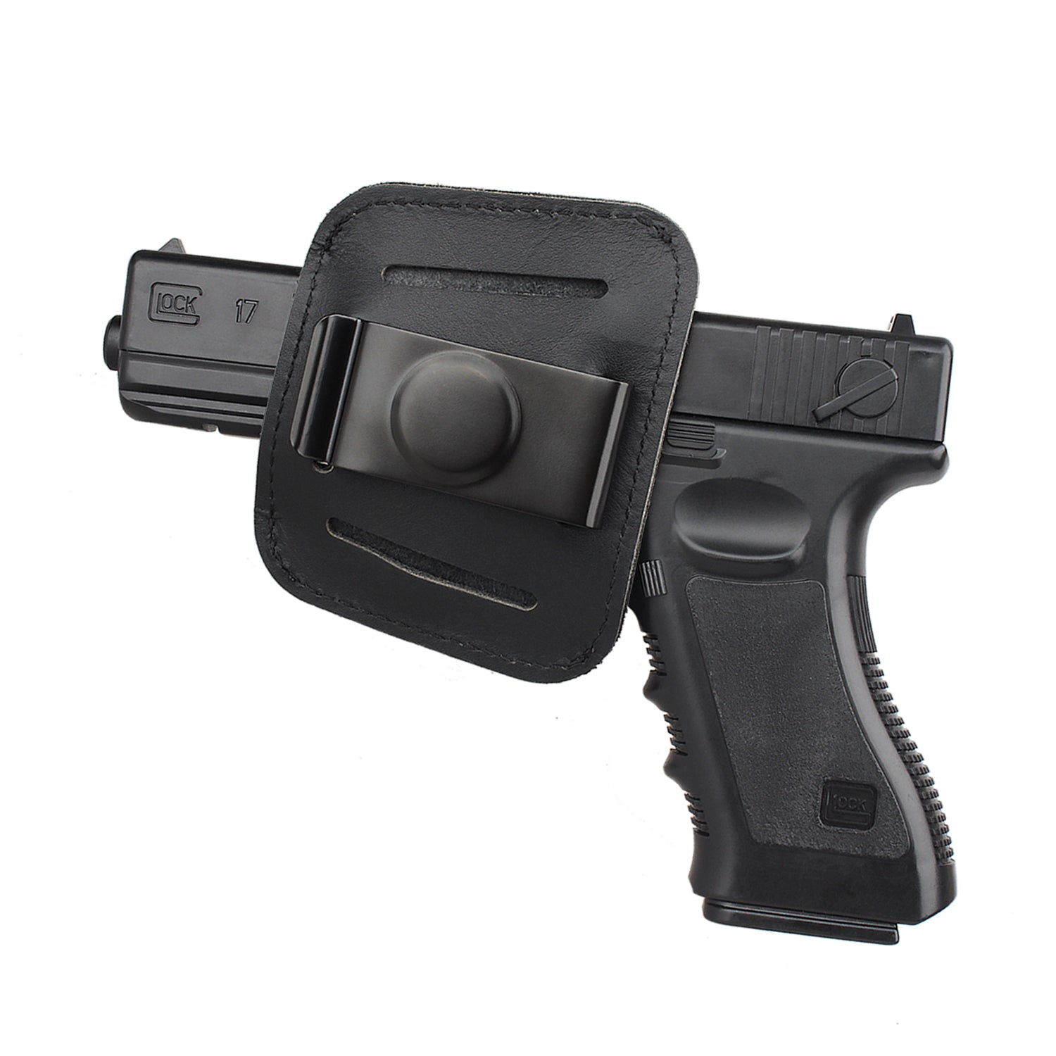 Portable Universal Leather Pistol Holster IWB Concealed Carry Glock 17  M/&P S/&W