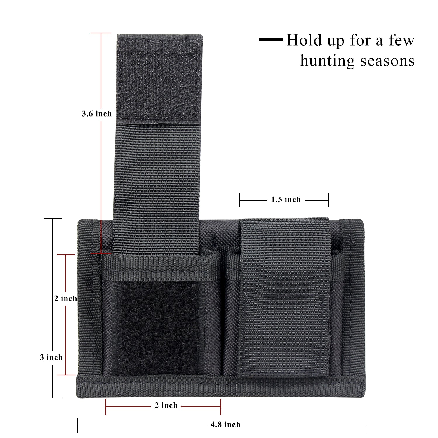 Case Double Speed loader Carrier Pouch Smith/&Wesson 38 Taurus 85 .357 .57