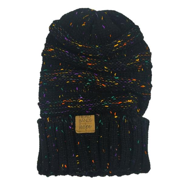 Black Speckled Beanie - Madison Blair Boutique