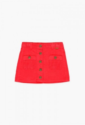 Boboli Corduroy Buttoned Skirt - Madison Blair Boutique