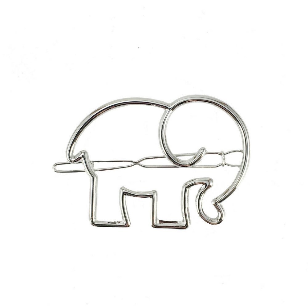 Elephant Hair Clip - Silver - Madison Blair Boutique