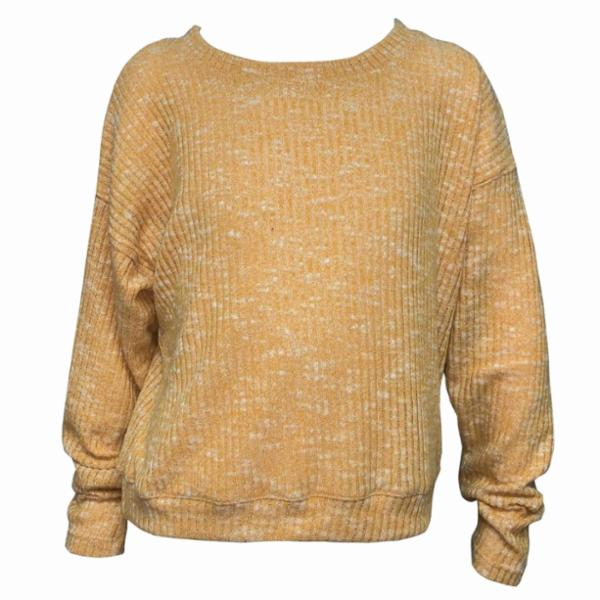 Erge L/S Stone Ribbed Top