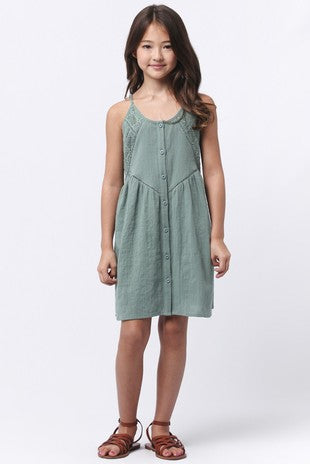Spaghetti Strap Peasant Dress - Madison Blair Boutique