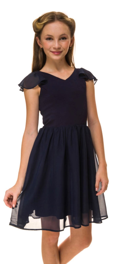 Flounce Sleeve Party Dress