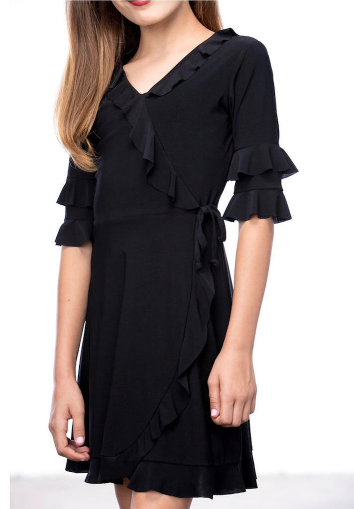 UDT Ruffle Wrap Dress - Madison Blair Boutique