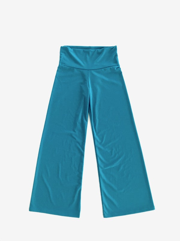 Solid Poly Span Comfy Palazzo Pants - Madison Blair Boutique