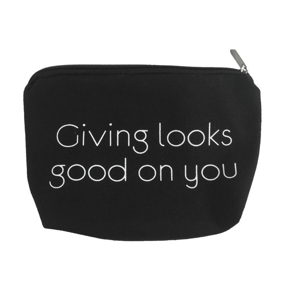 """Giving looks good on you"" Make-up Bag - Madison Blair Boutique"