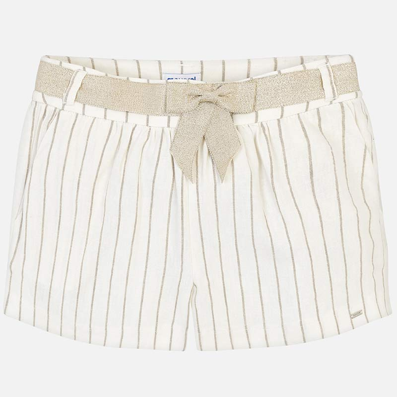 Gold Striped Shorts - Madison Blair Boutique