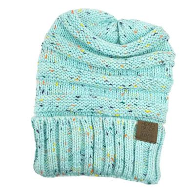 Mint Speckled Beanie - Madison Blair Boutique
