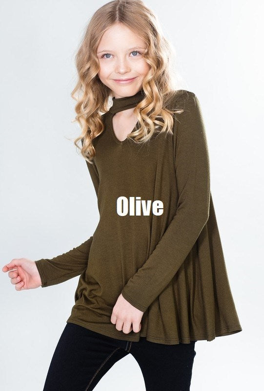 3/4 Sleeve Top - Olive - Madison Blair Boutique