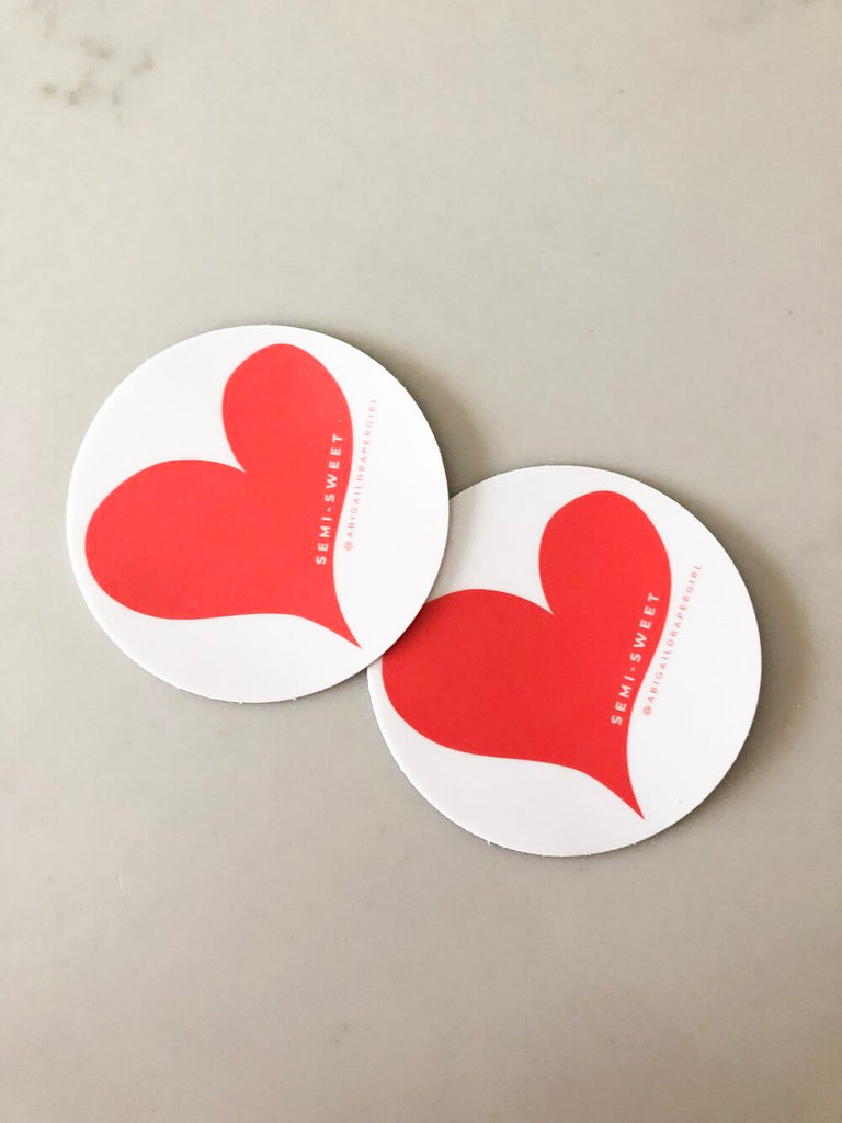 SemiSweet Heart Sticker