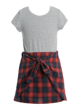 Twofer Plaid Dress