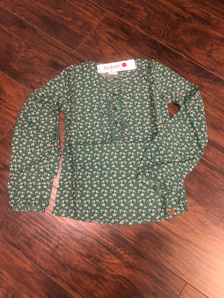 Boboli L/S Floral Top - Madison Blair Boutique