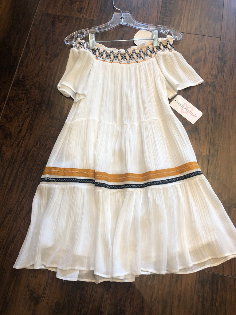HLA Off-Shoulder Tiered Swing Dress - Madison Blair Boutique