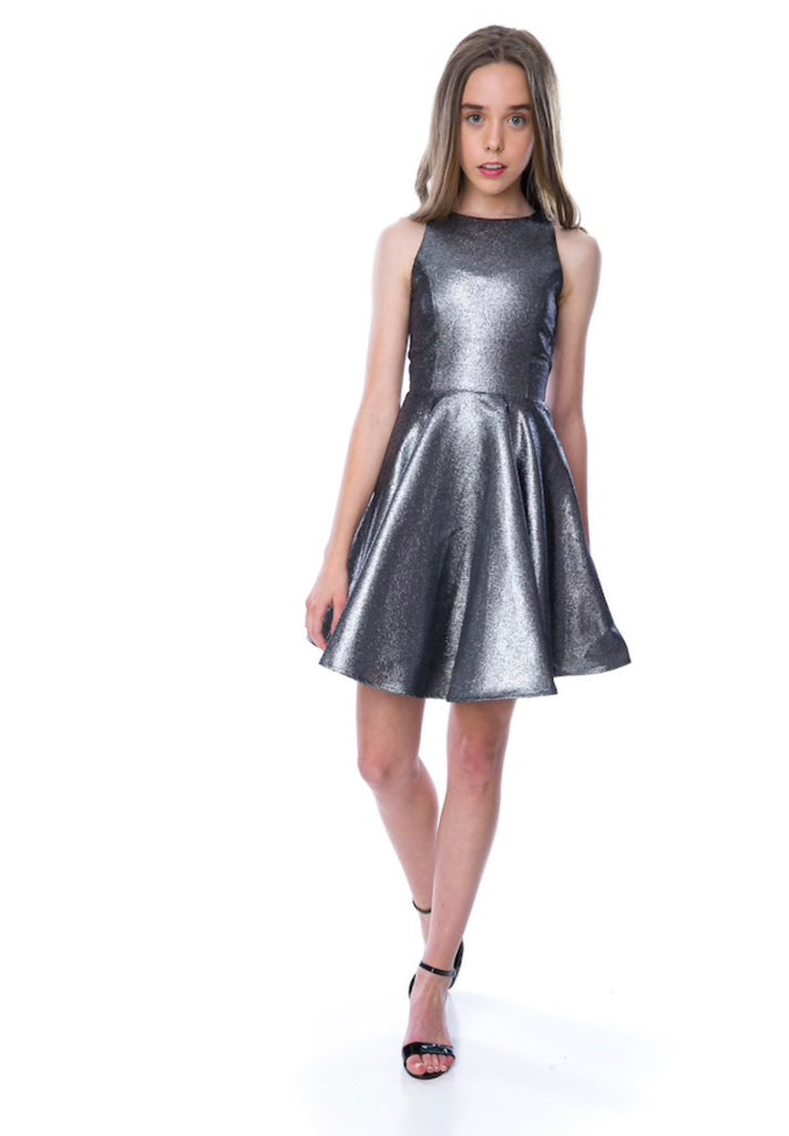 Metallic Racer Back Dress
