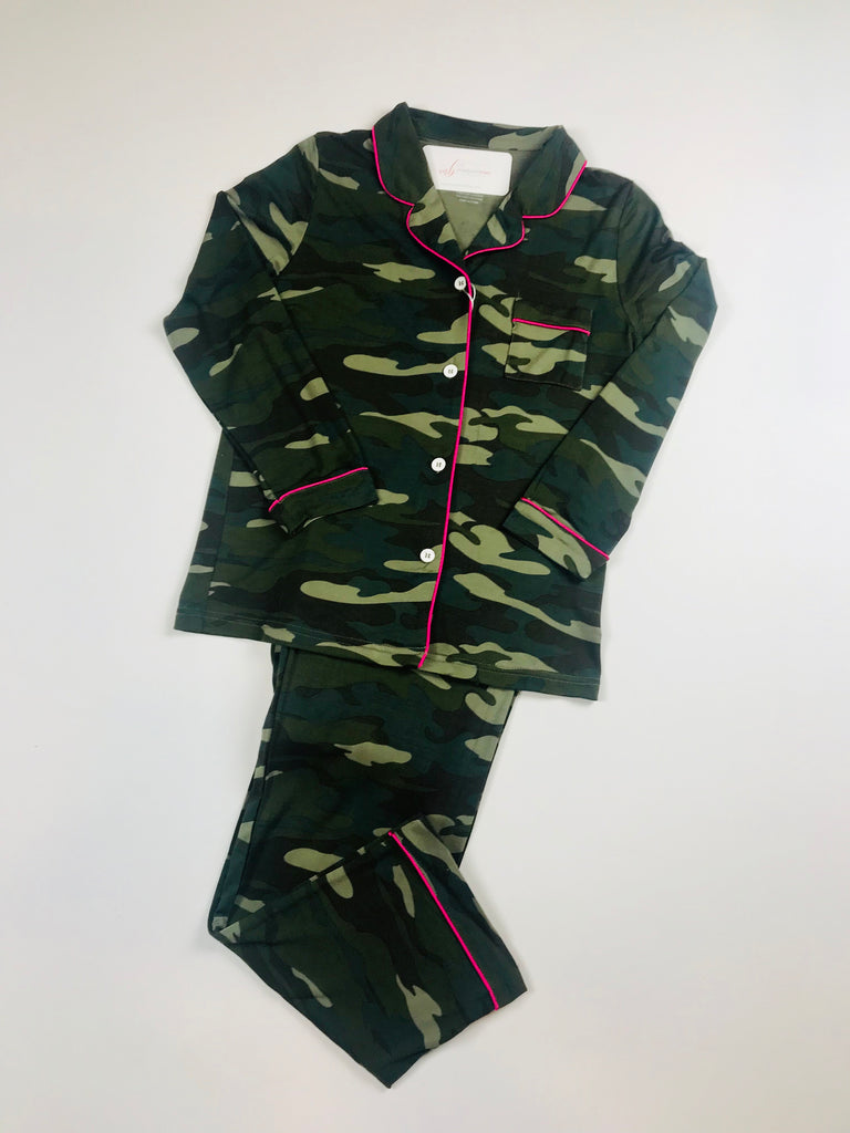 KJ Maia Camo Pant Set - Madison Blair Boutique