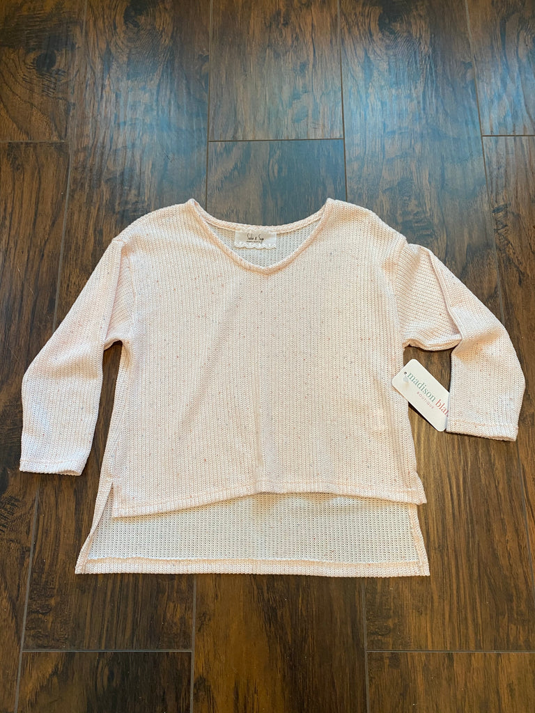 SS V-neck Knit Sweater