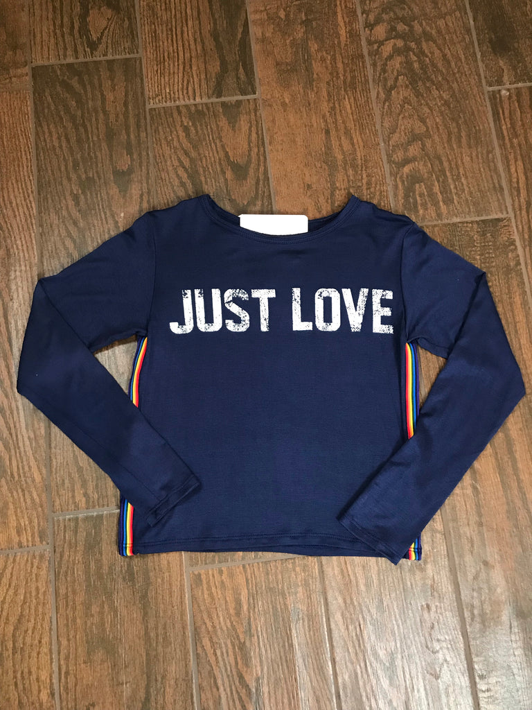 "VH Long Sleeve ""Just Love"" Top - Madison Blair Boutique"