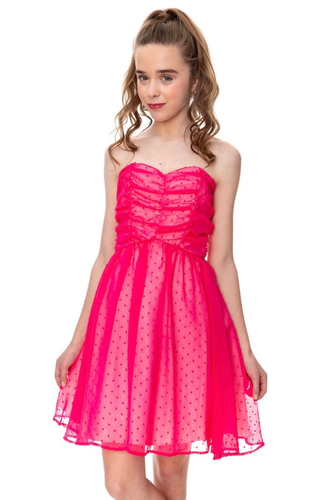 UDT Pink Paradise Dotted Party Dress