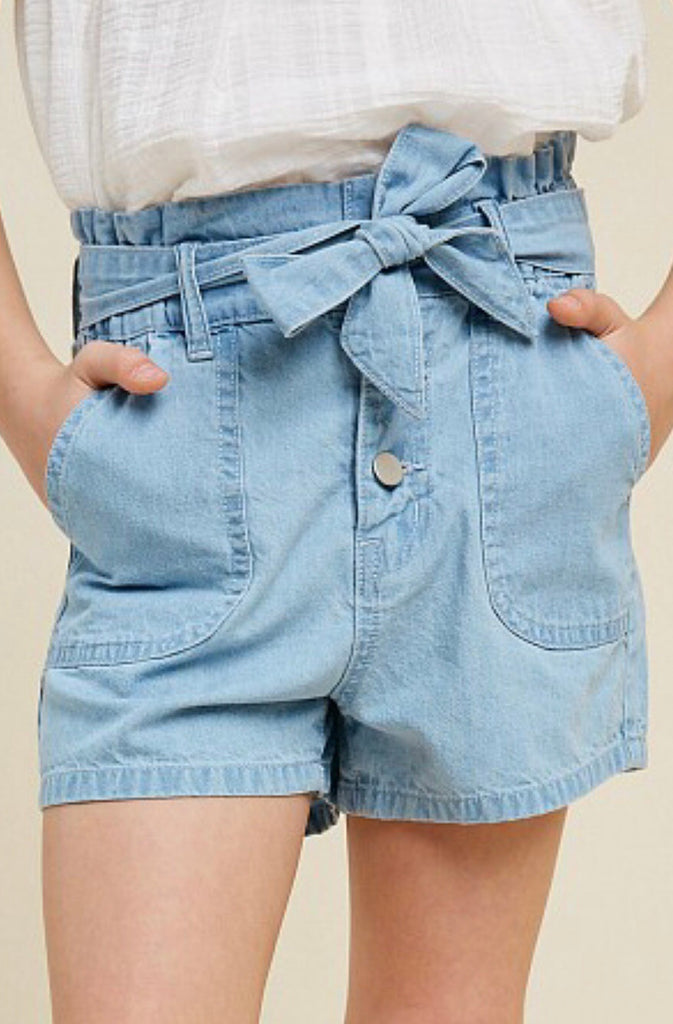 High-rise Paperbag Shorts - Madison Blair Boutique