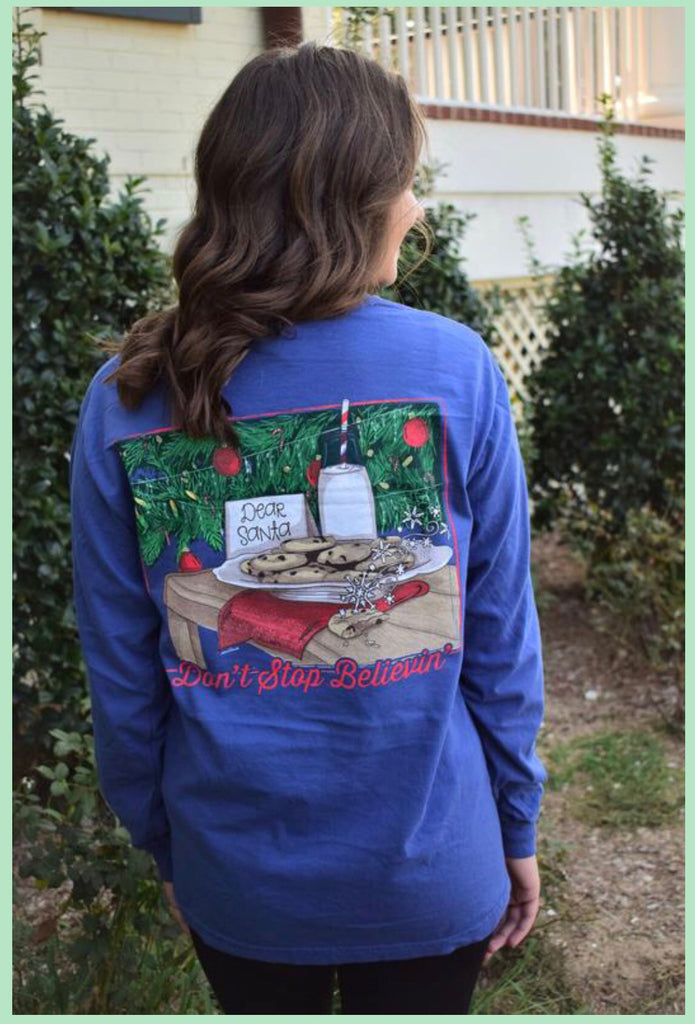 AG Tee -  Don't Stop Believin' Long Sleeve - Madison Blair Boutique
