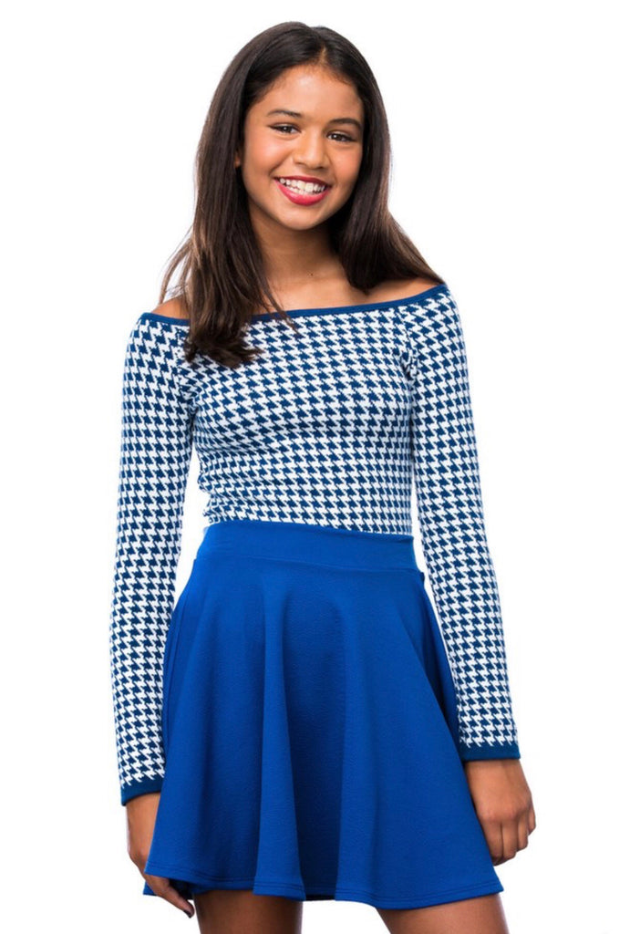 UDT Houndstooth Top - Madison Blair Boutique