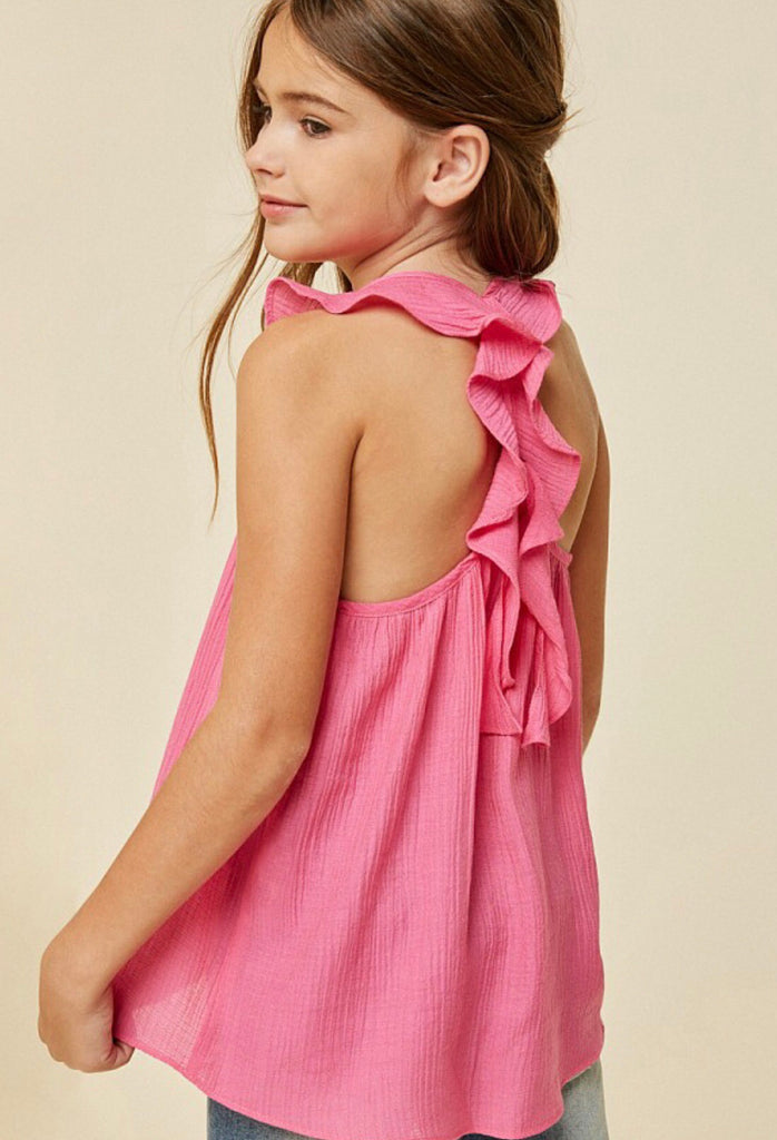 Racerback Ruffle Tank - Madison Blair Boutique