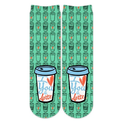 I Love You A Latte Socks - Crew - Madison Blair Boutique