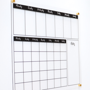 clear acrylic weekly wall planner board