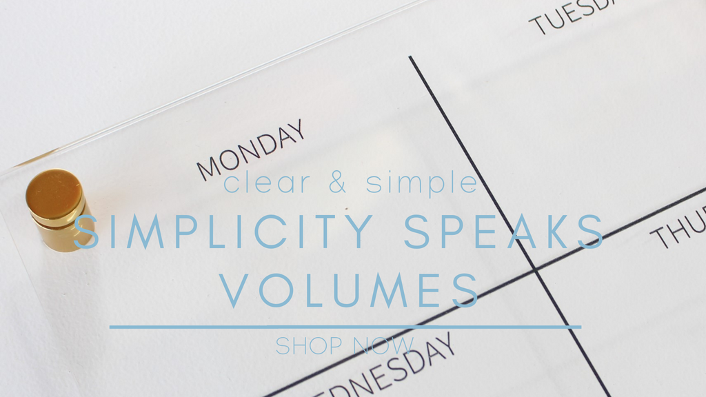 photo of clear acrylic weekly wall planner