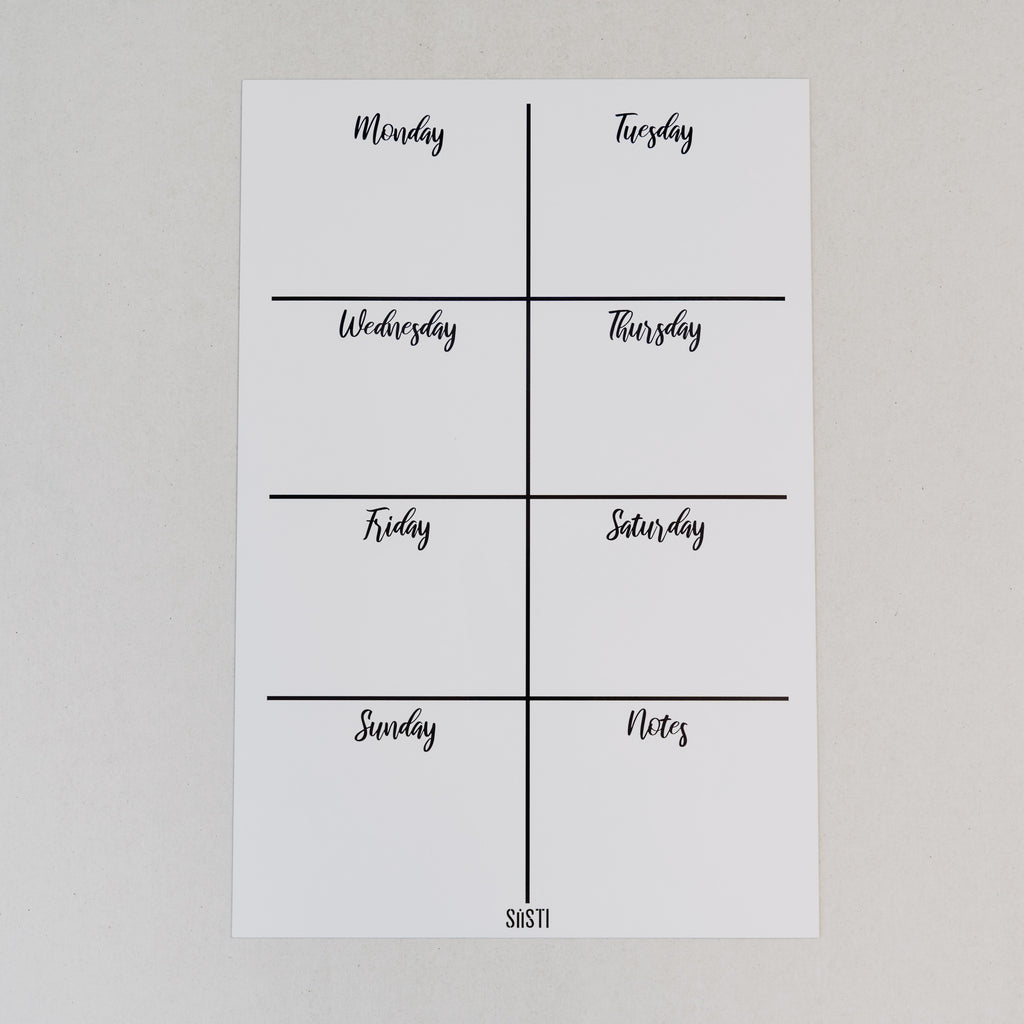 Magnetic Weekly Planner - WHITE