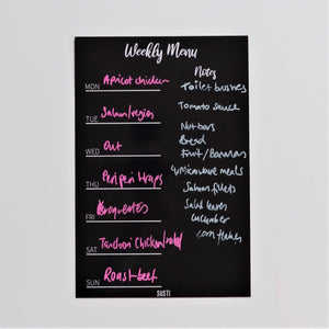 Magnetic Weekly Menu Planner