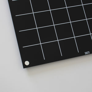Black and white acrylic perpetual monthly wall calendar
