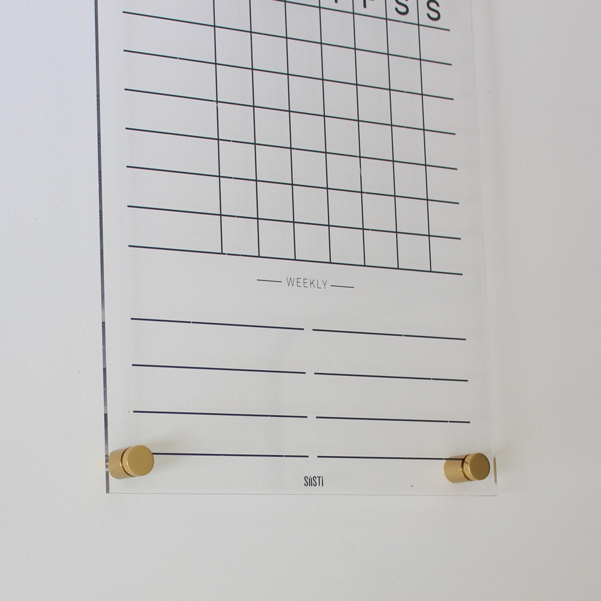 Clear acrylic weekly chore chart planner